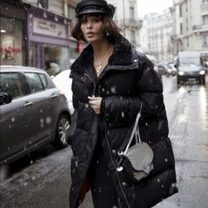 The Kooples oversized black puffer coat